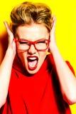 眼镜妇女 免版税库存图片