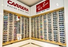 眼镜师商店在波兰 免版税图库摄影