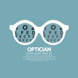 眼镜师,眼力视觉  库存图片