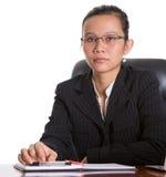 戴眼镜的亚裔女实业家VI 库存图片