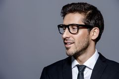 眼镜的人 免版税库存照片