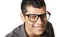 戴眼镜的人 免版税库存照片