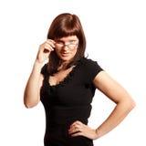戴眼镜的妇女 免版税库存照片