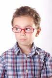 戴眼镜的孩子 免版税库存照片
