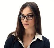 戴眼镜的秘书 图库摄影