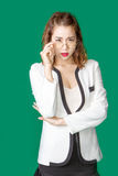 戴眼镜的迷人的亚裔企业夫人 图库摄影