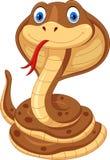 眼镜蛇动画片的例证是逗人喜爱和可爱的 皇族释放例证