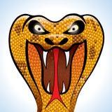 眼镜蛇顶头可怕 皇族释放例证