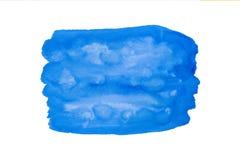 着墨纹理,水彩颜色背景,水彩蓝色油漆飞溅 免版税库存图片