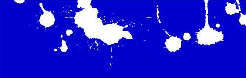 着墨飞溅、污点、冲程和污点 绘泼溅物背景 蓝色和白色传染媒介例证 抽象难看的东西模板 库存图片