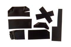 黏着性黑色磁带 图库摄影