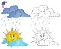 着色图象天气4 免版税库存图片