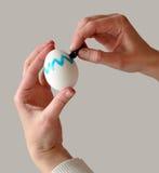 着色复活节彩蛋 免版税库存图片
