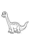 着色恐龙页 免版税库存图片