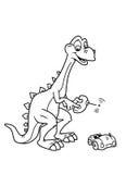 着色恐龙页 免版税图库摄影