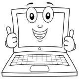 着色膝上型计算机或笔记本字符 皇族释放例证