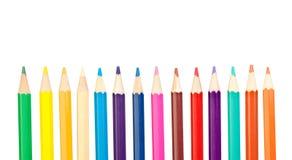 着色蜡笔铅笔 库存照片