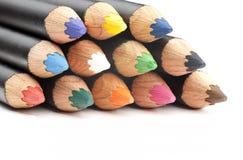 着色铅笔特写镜头  库存图片