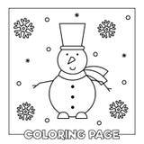 着色页 也corel凹道例证向量 免版税库存图片