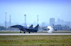 着陆喷气机杀害速度降伞 图库摄影