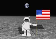着陆月亮 免版税库存图片