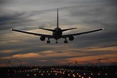 着陆飞机 库存照片