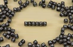 睡眠作为标志 库存照片
