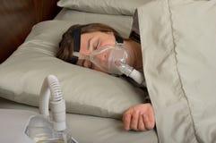 睡眠停吸 免版税图库摄影