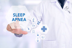 睡眠停吸 免版税库存图片