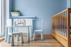 睡眠和戏剧婴孩空间想法 库存照片