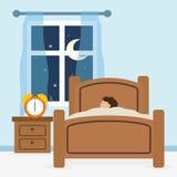 睡眠设计 向量例证