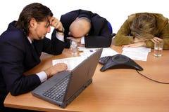 睡着的会议 免版税库存图片
