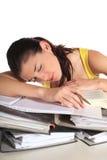 睡着的学员 库存照片