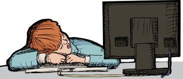 睡着的工作 免版税库存照片