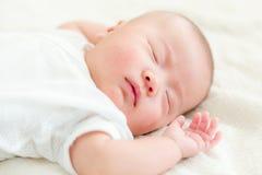 睡着的男婴 免版税库存照片