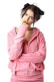 睡衣俏丽的妇女年轻人 库存图片