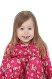 睡衣微笑的小孩 免版税库存照片