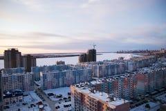 睡觉区域现代俄国建筑学  免版税库存照片