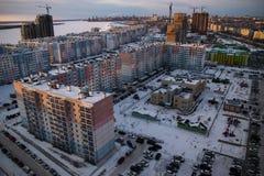 睡觉区域现代俄国建筑学  库存图片