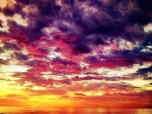 睡觉太阳的颜色 库存照片