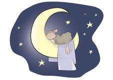 睡觉小羊羔 免版税库存图片