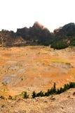 睡觉火山耕种 库存照片