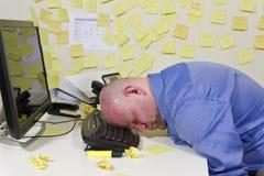 睡觉的商人 免版税库存图片