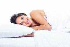 睡觉的妇女。 免版税库存图片
