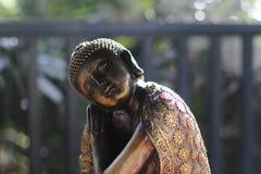 睡觉的菩萨雕塑边 图库摄影