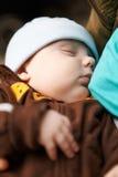 睡觉的婴孩。 免版税库存照片