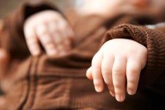 睡觉的婴孩。 免版税图库摄影