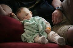 睡觉的婴孩 库存照片
