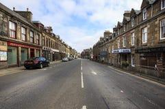 睡觉街道在Thurso,苏格兰 库存照片