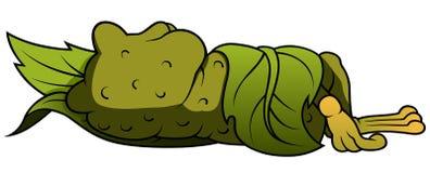 睡觉青蛙 库存照片